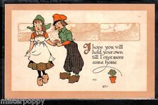 Dutch Kids serie A. M. DAVIS PC Circa 1910 UK Bambini Olandesini