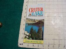 Vintage Clean Brochure: CRATER LAKE National Park; Oregon; 1974