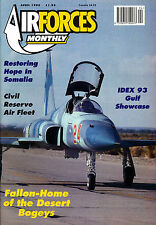 AIRFORCES MONTHLY 61 APR 1993 Military Transport,Somalia,NAS Fallon VF127,IDEX93