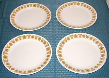"""(4) Corning Corelle Butterfly Gold 10 1/4"""" Large Dinner Plates - Very Good"""