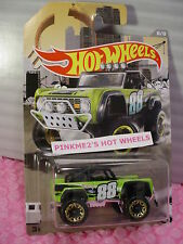 2016 Hot Wheels #6 CUSTOM FORD BRONCO☆Green 4x4; 88☆RAD TRUCK Walmart Exclusive☆