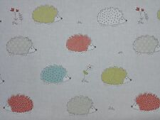 MARSON Hedgehogs Duck Egg DESIGNER CURTAINS BLINDS CRAFT UPHOLSTERY FABRIC