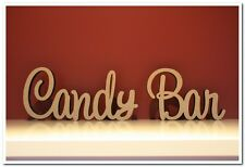 Small  size freestanding wooden sign Candy Bar about 7cm tall. Wedding decor.