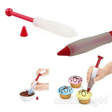 New Silicone Plate Write Pen Cake Cookie Pastry Cream Chocolate Decorate Syringe