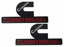 2X NEW Dodge Ram 1500 2500 3500 Cummins Turbo Diesel Emblem Badge Sticker Decal