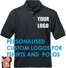 Custom DIY Shirt Logo Personalised Printed Company Name for Polo T-Shirts