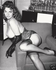 1960s Lovely Brunette Jackie Miller Nude Pinup DDD Breasts 8 x 10 Photograph