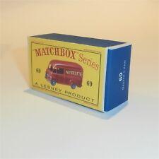 Matchbox Lesney 69 a Nestles Van empty Repro D style Box