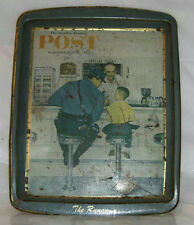 """VINTAGE NORMAN ROCKWELL COLLECTOR'S SERIES """"THE RUNAWAY"""" TIN TRAY 7.75"""""""