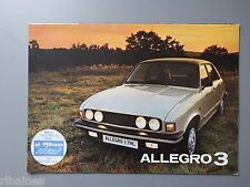 R&L Sales Brochure: Austin Rover Leyland Allegro 3 1.3/1.5/1.7 Estate/Saloon