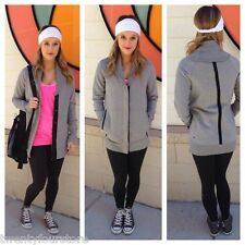 Lululemon Yin to my Yang Jacket Open Fleece Sweatshirt Cardigan in Light Grey 4