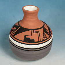 Vintage  UTE Mountain Native American Pottery Tribal Vase ~ signed Sherry Eyeta