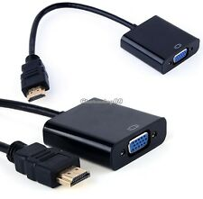 1080P HDMI Male to VGA Female RGB PC DVD HDTV Video Cable Lead Converter Adapter