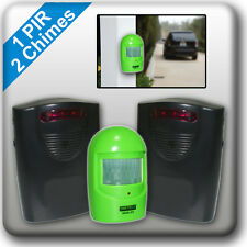 A9G2 WIRELESS DRIVEWAY ALERT Weatherproof PIR Motion Sensor Garage Alarm Chime