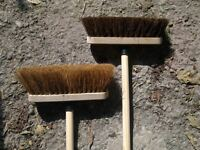 """10"""" Sweeping Brush with Handle Stiff Bassine Soft Coco Set Shafted Yard Broom"""