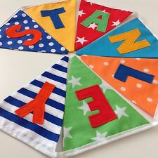 PERSONALISED Handmade BUNTING  BIRTHDAY Baby GIRL boy £1.50 P/letterPARTY Bright