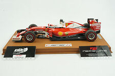 1/18 BBR FERRARI SF16-H S. VETTEL DELUXE BROWN LEATHER BASE LIMITED 5 PIECES MR