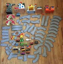 Big Lot Of Thomas Friends Take Along Gray Plastic Train Track Parts & Pieces