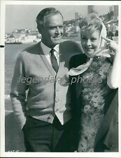 1975 Actress Lucille Ball with Henry Fonda Outside Original News Service Photo