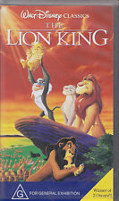 PAL VHS VIDEO TAPE :  WALT DISNEY CLASSICS : THE LION KING