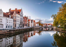 "BRUGES BELGIUM NEW A4 CANVAS GICLEE ART PRINT POSTER 11.7"" x 8.3"""