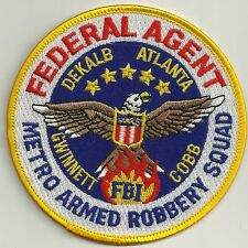Fbi: agente federal metro Armed Robbery Squad Police Patch SEK policía Patch