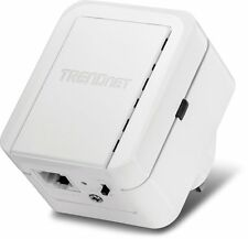 TRENDnet N300 Range Extender Plug Wireless WiFi Signal Ethernet Internet Adapter