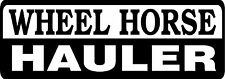 WHEEL HORSE HAULER DIE CUT DECAL - SET OF 2 - BLACK