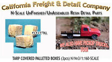 TARP COVERED PALLETED BOXES (3pcs) N/1:160-Scale Craftsman CAL FREIGHT nbPR6