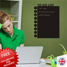 BLACKBOARD Chalkboard Sticker Vinyl Home Office Planner Todo List Task Manager
