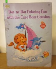 CARE BEAR COUSINS coloring book 1985 beat-up American Greetings toys