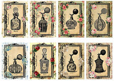 Black Perfume Bottles -  Glossy Card Making Toppers / Scrapbooking