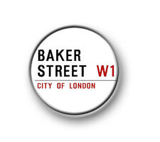 "BAKER STREET / 1"" / 25mm pin button / badge / Sherlock / Watson / Cumberbatch"