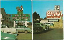 Archie's Lobster House and Town House Restaurants in Roanoke VA Postcard