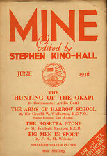 mine : edited by stephen king - hall . june 1936 : the arms of harrow school