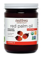 Nutiva Red Palm Oil 15 oz organic unrefined vegan  RED101G best by 2017-06-08