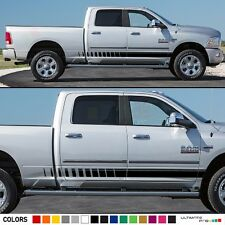 Side Stripe Sticker for Dodge Ram 1500 cover doors badge graphics top hitch 2015