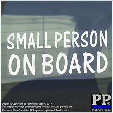 Small Person On Board Sticker-Car,Van,Window Warning Sign-Baby,Child,Kid,Gift