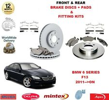 FOR BMW 640I 640d GRAN COUPE F13 FRONT & REAR BRAKE DISCS + PADS + FITTING KIT