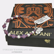 Authentic Alex and Ani Passion Beaded Swarovski Crystal Shiny Silver Bangle