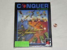 """NEW Conquer for Windows PC Big Box Game SEALED Elpin Systems 3.5"""" & 5.25"""" Rare"""