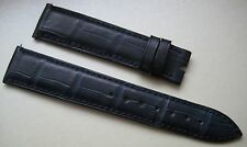 GENUINE FRANCK MULLER WATCH STRAP BAND ALLIGATOR LEATHER 19 mm BLUE 19/16 NEW