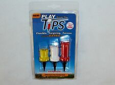 TiPS Flexible Golf Tees, Soft Tees, Three Assorted Sizes, 3 Tees Per Pack