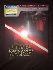 Star Wars: The Force Awakens Blu-ray/DVD Best Buy Exclusive SteelBook, 2016 NEW