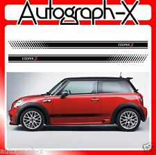BMW Mini cooper S Side Racing stripes stickers decals graphics 07