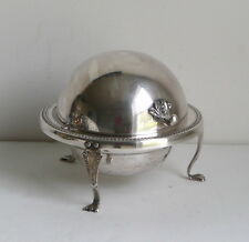 Vintage Butter Dish Silver on Copper B Rogers Co 172