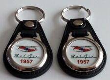 1957 Chevrolet Bel Air KEYCHAIN 2 PACK CLASSIC CAR FOB LOGO BELAIR KEY CHAIN