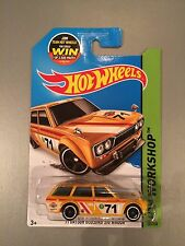 2015 Hot Wheels '71 Datsun Bluebird 510 Wagon Card 202