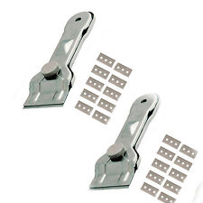 2 X METAL SCRAPER GLASS CERAMIC HOBS GASKET WINDOWS PAINT 10 FREE BLADES   4A