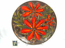 "Cool 70´s ""Flower Power"" design Ruscha Keramik wall plate Wandteller  717 / 3"